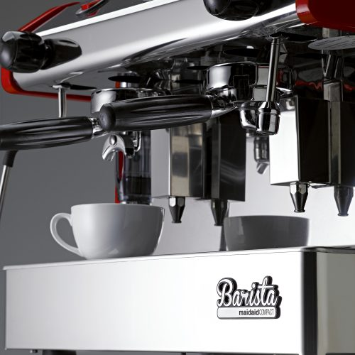 Maidaid Barista coffee machine with cup - product photography