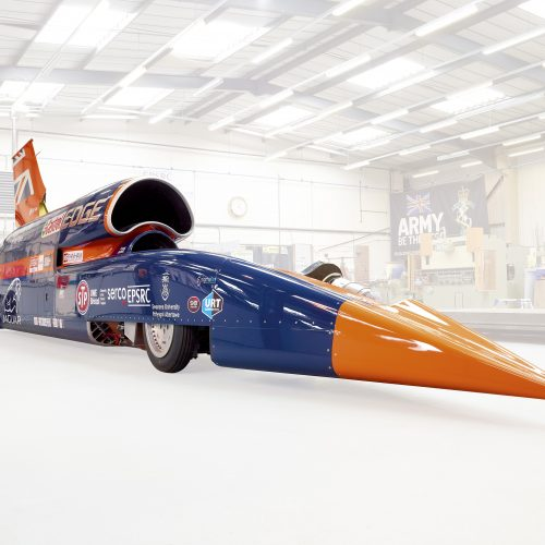 The Bloodhound SSC in aircraft hanger - Industrial photography