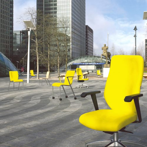 Office chairs at Canary wharf cropped shot - Furniture photography