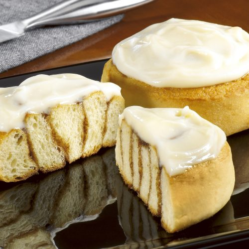 Cinnamon iced buns - Food and drink photography