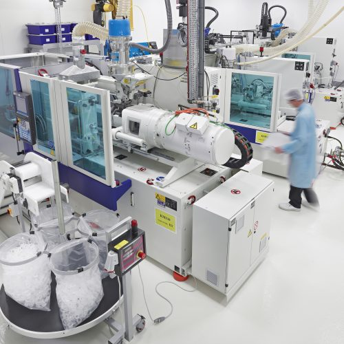 Interior shot of Clean room Moulding lab - Industrial photography