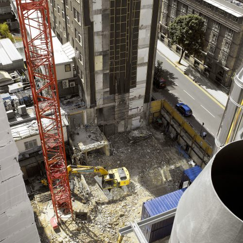 Aerial photography of building construction at London Great Ormond St - Exterior photography
