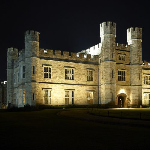 Night shot of Leeds Castle - Exterior/Location photography