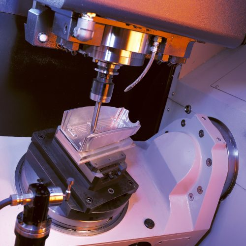 Closeup of Milling Machine - Industrial photography