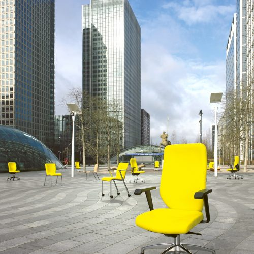 Office chairs at Canary wharf - Exterior/Location photography