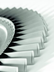 Close up of airplane engine blades concept photography