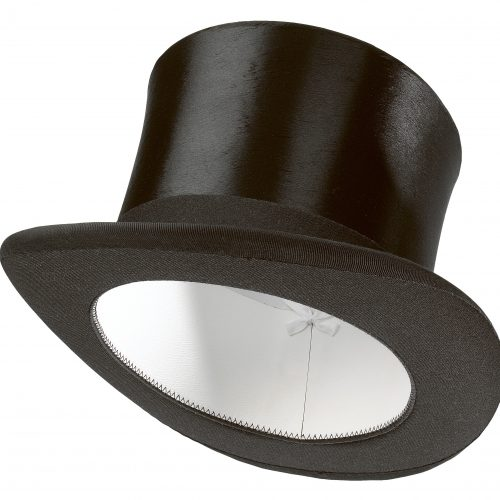 Black Top Hat on white background concept photography